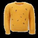 Okergele zachte trui met bloemetjes - Philou oker