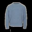 Grijsblauwe fluffy sweater - Ruby blue