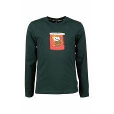 Donkergroene t-shirt met chipspotje - Snack dark green