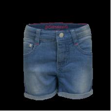 Lichtblauwe jeansshort - Bow denim light blue