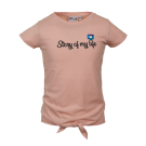 Oudroze t-shirt met opschrift - Social old pink