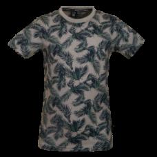 Grijze t-shirt met bladeren - Jungo light antracite