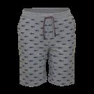 Grijze short met blauwe haaien - Jawsy light grey mel