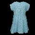 Muntblauw gestreept kleedje met bloemetjes - Narcy light aqua