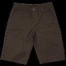 Kakigroene/zwarte short met print - Trow dark khaki