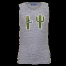 Grijsblauw marcelleke met cactussen - Take blue melange