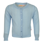 Lichtblauwe glitter gebreide cardigan - Home light blue