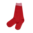 Rode kniekousen met roze streep - Caroline red