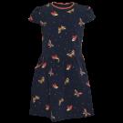 Donkerblauw kleedje met vlinders - Brush navy