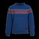 Blauwe sweater met strepen - Drone dark blue melange