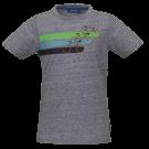 Blauwgrijze t-shirt met fietsen - Cycle blue melange