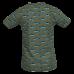 Kaki shirt met haaien - Jawsy light khki