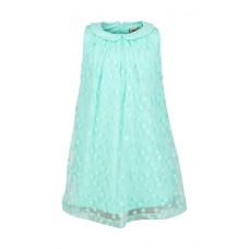 Elegant muntgroen voile kleedje met fijne bloemetjes - chic mint