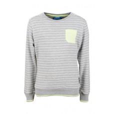 Grijs gestreepte sweater - cocos grey melange