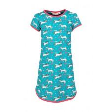 Turquoise slaapkleed met eenhoorns - sleep aqua unicorn