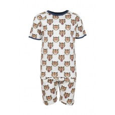 Tweedelige zomerpyjama met tijgers - sleep light grey melange tiger