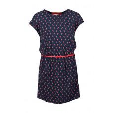 Grijsblauw kleed met pikante pepers - spicy navy