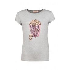 Grijze t-shirt met popcorn - Joker grey melange