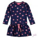 Donkerblauw kleed met sterren - navy stars