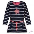 Blauw gestreept kleedje met ster - Nayt stripes