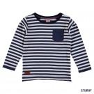 Blauw - wit gestreepte t-shirt