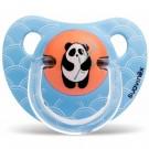 Blauwe anatomische fopspeen met pandabeer 6m-18m