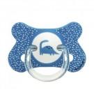 Vlinderfopspeen fysiologisch blauw met dino: 4 tot 18m + (Geboortelijst Eli V.)