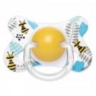 Vlinderfopspeen fysiologisch - geel met bijtjes - 4 tot 18m