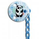Ronde blauwe speenketting met pandabeer