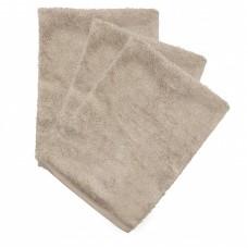 Set van 3 washandjes - Feather grey