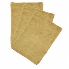 Set van 3 washandjes - Honey yellow