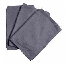 Set van 3 grijze washandjes