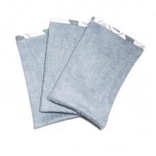Set van 3 saffierkleurige washandjes