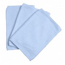 Set van 3 lichtblauwe washandjes- soft blue