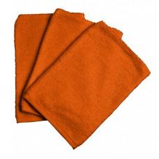 Set van 3 oranje washandjes