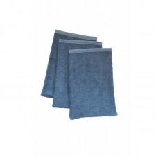 Set van 3 jeanskleurige washandjes - marin