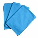 Set van 3 turquoise washandjes (Geboortelijst Flor V. W.)