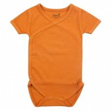 Newborn wikkelbody met korte mouwen - Inca Rust