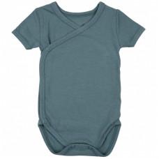 Newborn wikkelbody met korte mouwen - Marin