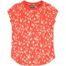 Oranje t-shirt met blokjes - Charis