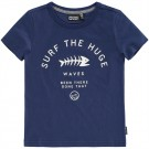 Blauwe t-shirt surf the hudge waves - Denny