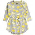 Grijs melange kleed met citroenen - Elvis