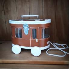 Tram speelkoffertje - bruin