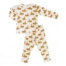Tweedelige pyjama met luipaarden- cheetah - maat 98 - 3 jaar  (Geboortelijst Noor V.K.)