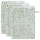 Set van drie tetrawashandjes met pebble green motief (Geboortelijst Eppo R.H.)