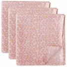 Set van 3 tetradoeken met pebble pink motief (Geboortelijst Suza B.)