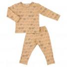 Tweedelige pyjama met luiaards- silly sloth  - maat 98 - 3 jaar  (Geboortelijst Oona M.)