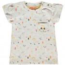 Ecru baby shirtje met zomerse print - Bisa - maat 62 (Geboortelijst Suus v.H.)