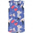 Paarsblauw kleedje met vlakken - amparo blue asity  - maat 104 (Geboortelijst Axelle R.)