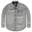 Grijs soepel hemd - denim grey mador - maat 98 (Geboortelijst Mon D.W.)